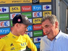 Eddy Merckx and Chris Froome