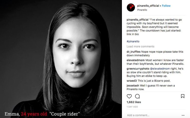 Pinarello sexist ad