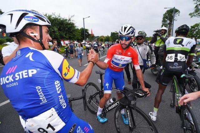 Julian Alaphilippe and Fernando Gaviria