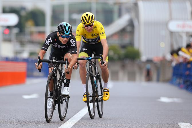 Kenny Elissonde and Chris Froome