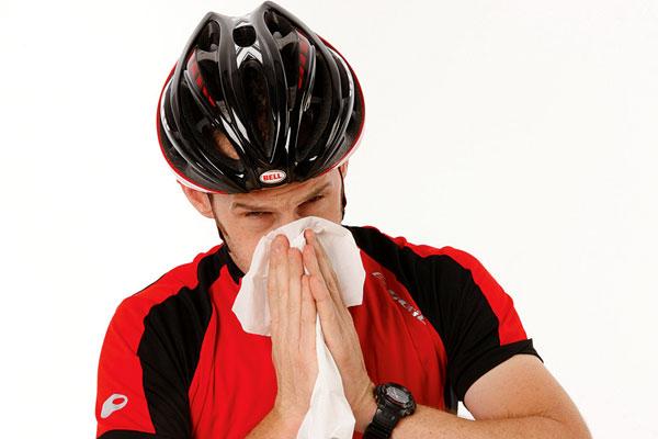 cycling cold flu sick