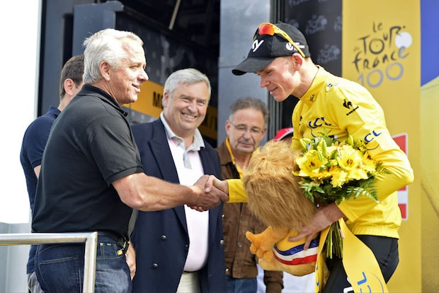 Greg LeMond and Chris Froome