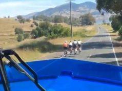 truck driver swears cyclists
