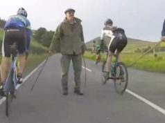 cyclists attacked with sticks