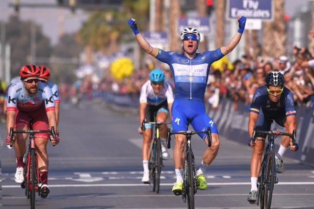 Elia Viviani wins Dubai Tour