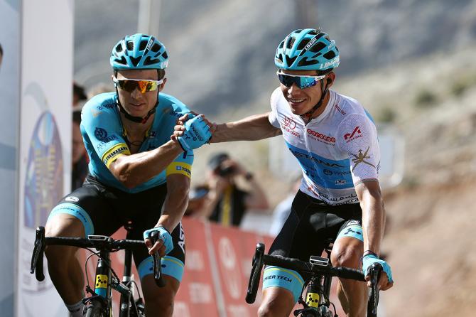 Miguel Angel Lopez and Alexey Lutsenko