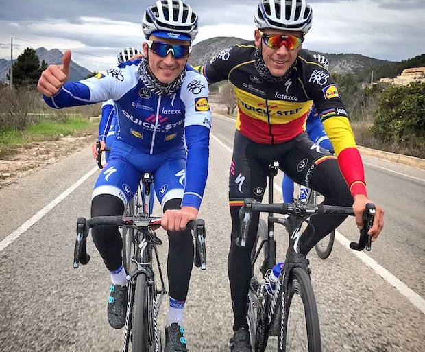 Julian Alaphilippe and Philippe Gilbert
