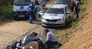 Michael Goolaerts cardiac arrest paris roubaix 2018