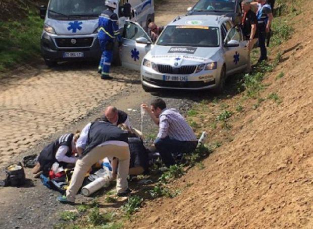 Michael Goolaerts cardiac arrest paris roubaix 2018