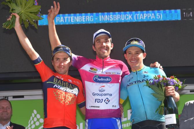Tour of the Alps 2018 podium