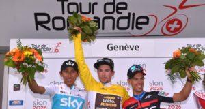 Tour de Romandie 2018 podium