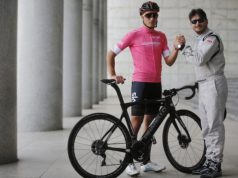 Gianni Moscon giro d'italia on e-bikes
