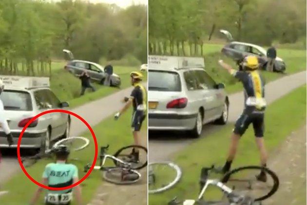 commissaire run over bike PWZ Zuidenveld Tour