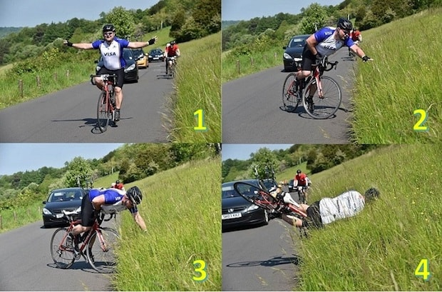 epic fails celebrations early cyclist