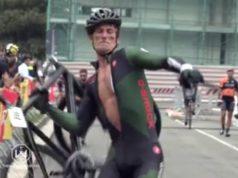 cyclist smash bike