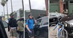 Cyclist Finds His Wife's Stolen Car In Traffic