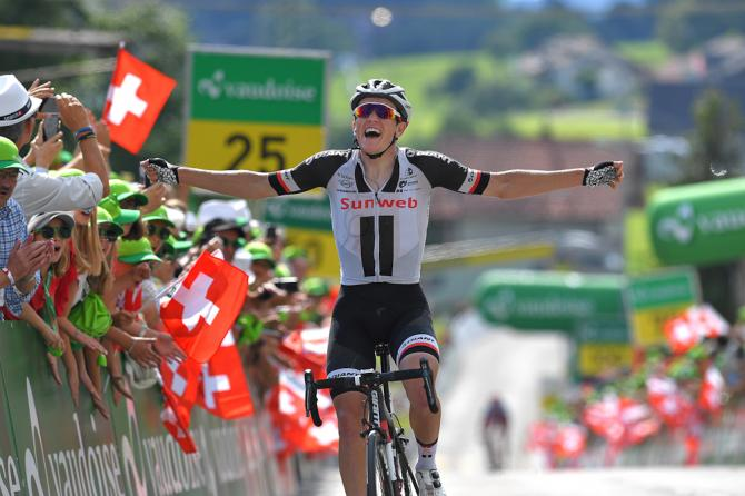 Søren Kragh Andersen wins stage 6 tour de suisse 2018