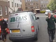 van drivers edinburgh road rage cyclist