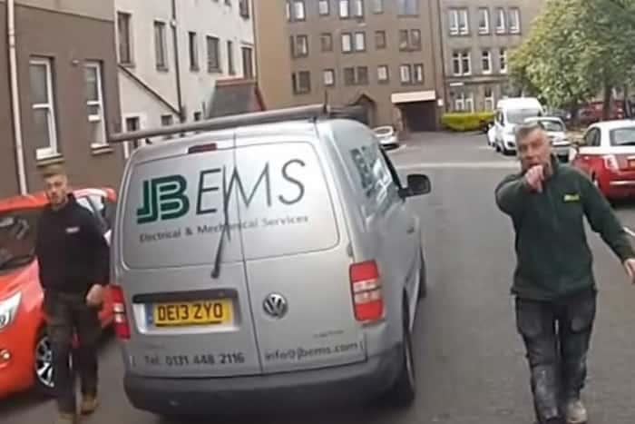 van drivers edinburgh road rage cyclist