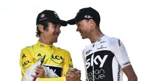 GEraint Thomas and Chris Froome