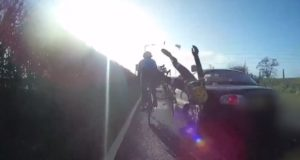 81 year old driver plough into cyclists