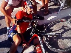 Vincenzo Nibali crash stage 12 alpe d'huez