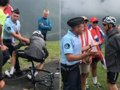 froome policeman incident tour de france