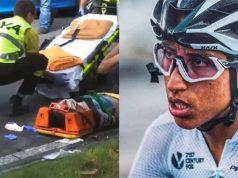 Egan Bernal crash clasica san sebastian