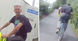 police officer catches bike thief after bicycle chase