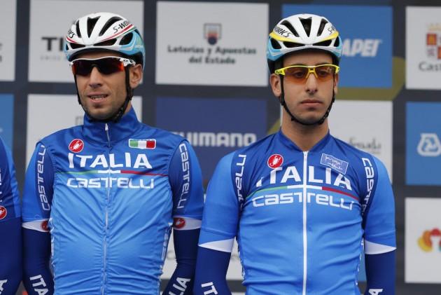 Vincenzo Nibali and Fabio Aru