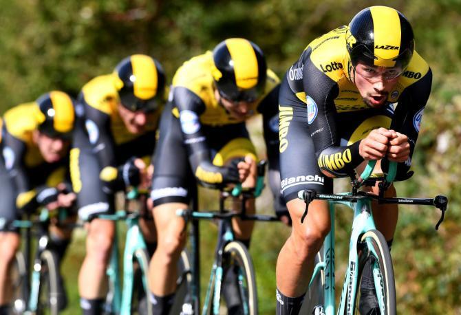 LottoNL-Jumbo wins tour of britain 2018 team time trial