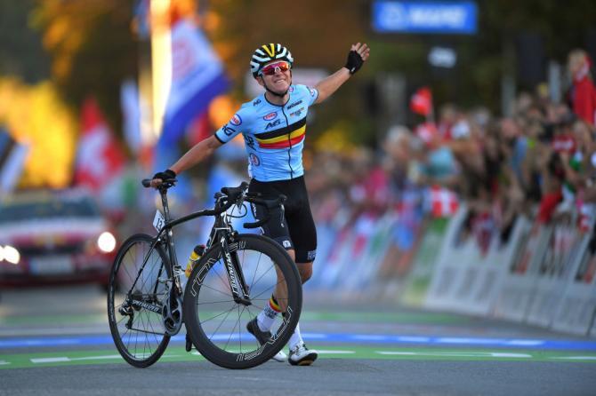 Remco Evenepoel wins junior men's world title
