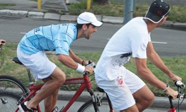 Novak Djokovic cycling