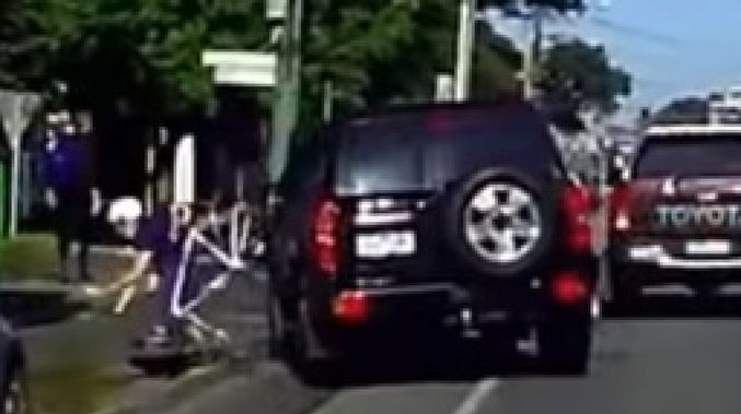 cyclist driver road rage australia