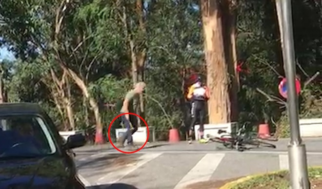 Truck driver attacks two cyclists with a hammer