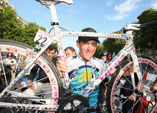 Lance Armstrong trek madone damien hirst