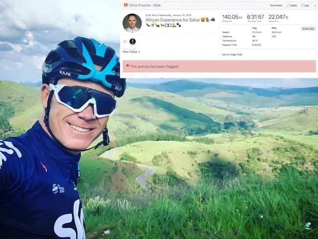 Chris Froome training ride strava 2019