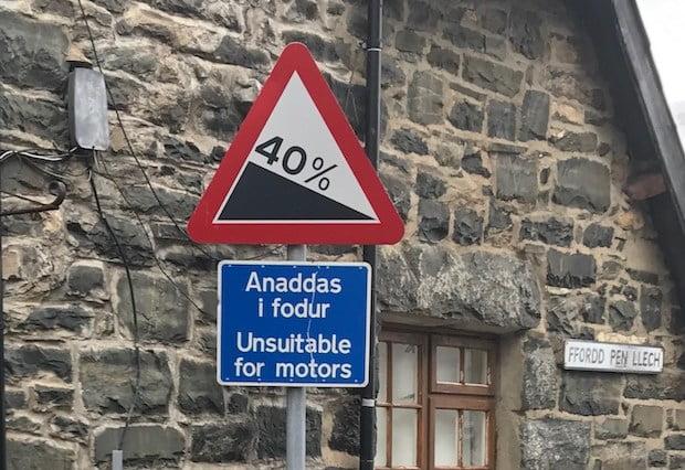 Ffordd Pen Llech steepest street in the world
