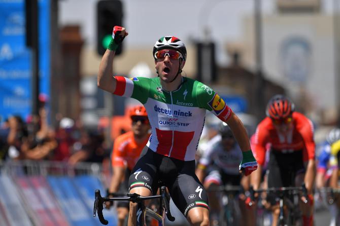 Elia VIviani wins Tour Down Under 2019 stage 1