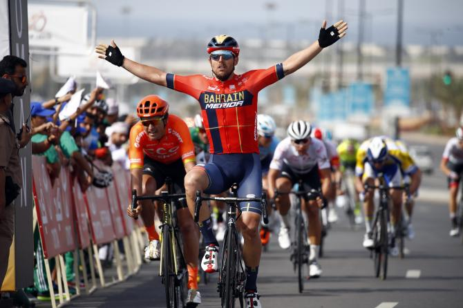 Sonny Colbrelli wins stage 4 Tour of Oman 2019