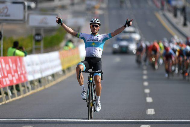 Alexey Lutsenko wins stage 2 Tour of Oman 2019