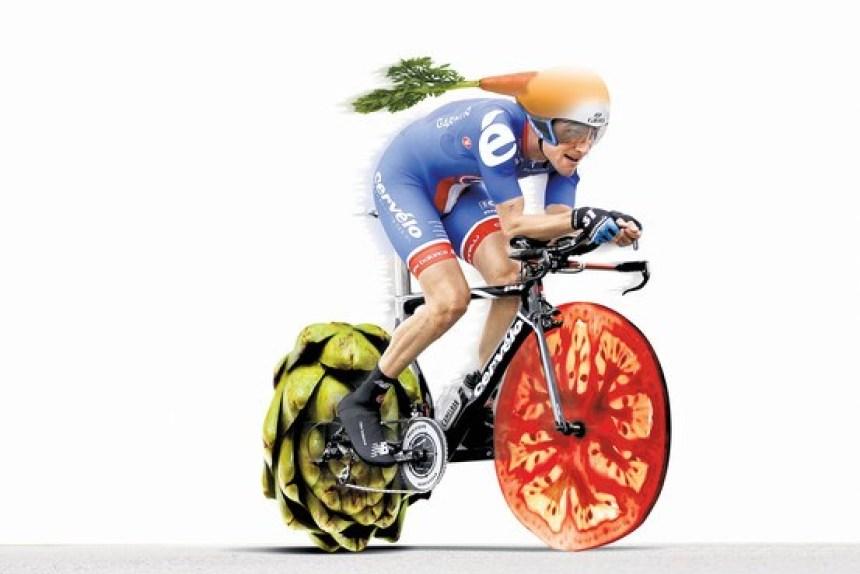 vegan vegetarian cyclist
