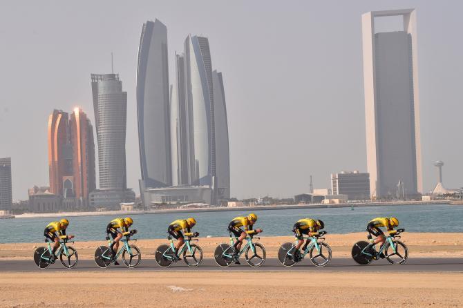 Jumbo-Visma wins UAE Tour 2019 stage 1