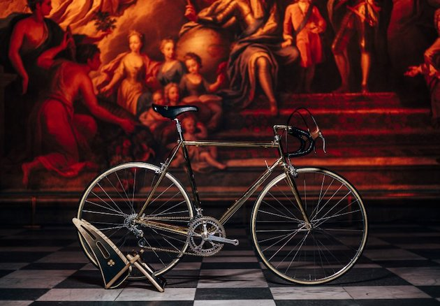 Ernesto Colnago's golden 87th birthday bike