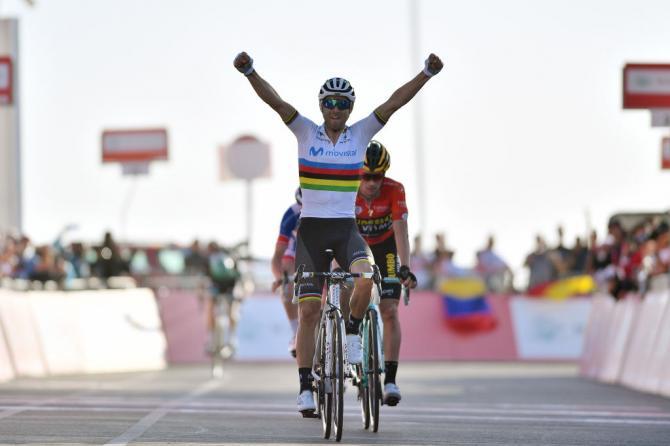 Alejandro Valverde wins stage 3 UAE Tour 2019