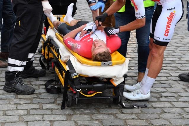 Mathieu Van Der Poel crash Nokere Koerse