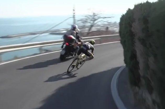 Niccolo Bonifazio descent Milano Sanremo 2019