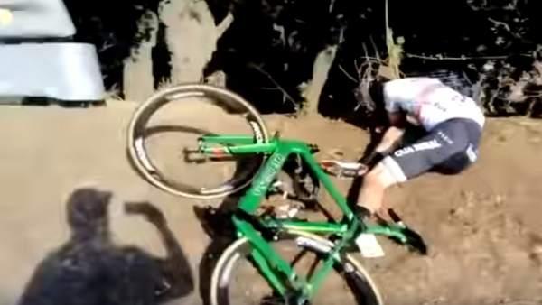 Domingos Goncalves crash video Volta Catalunya 2019