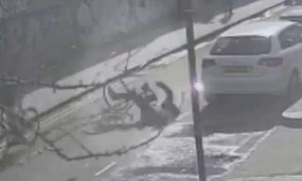 Cyclist left fighting for life after another cyclist kicks him off bike