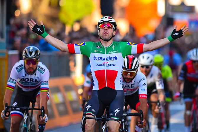 Elia Viviani wins stage 3 Tirreno-Adriatico 2019